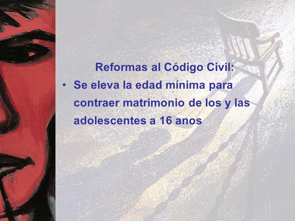 Reformas al Código Civil: