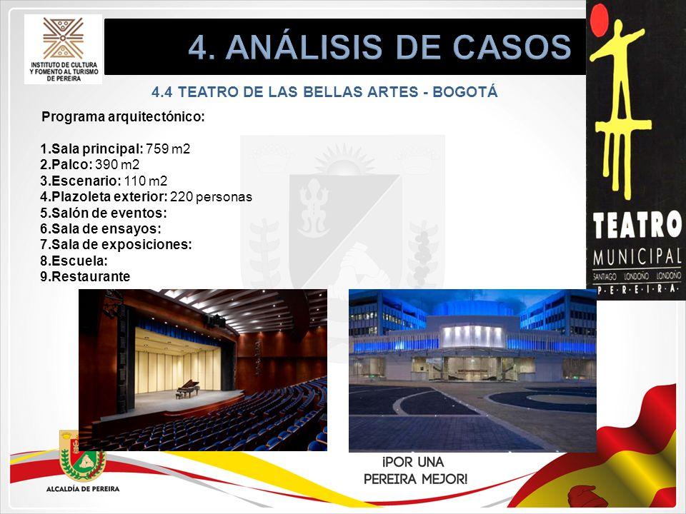 4.4 TEATRO DE LAS BELLAS ARTES - BOGOTÁ