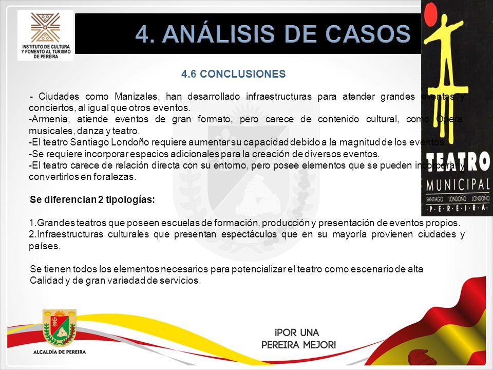 4. ANÁLISIS DE CASOS 4.6 CONCLUSIONES