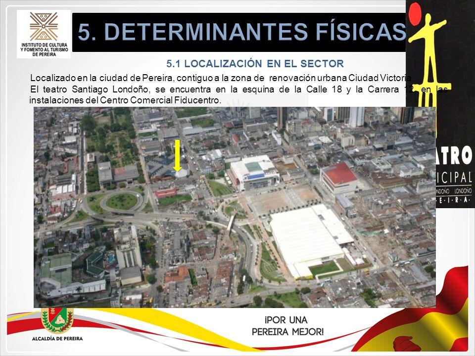 5. DETERMINANTES FÍSICAS 5.1 LOCALIZACIÓN EN EL SECTOR