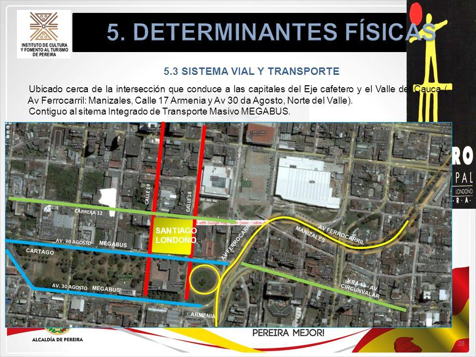 5. DETERMINANTES FÍSICAS 5.3 SISTEMA VIAL Y TRANSPORTE