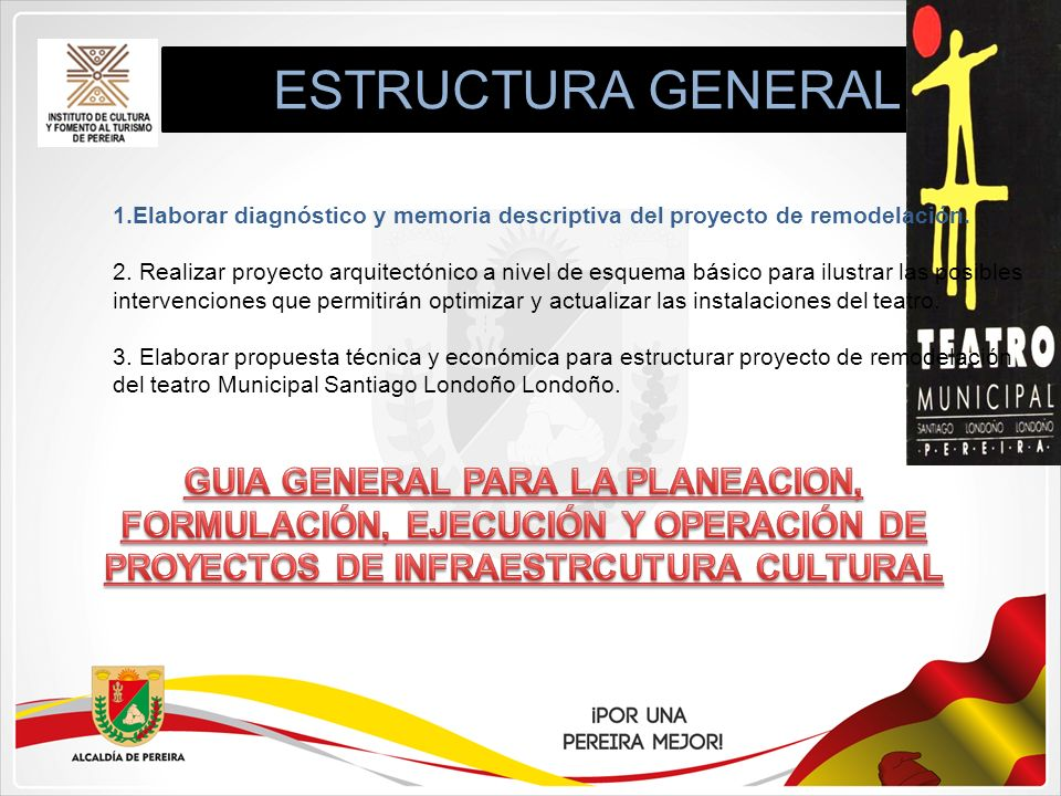ESTRUCTURA GENERAL Elaborar diagnóstico y memoria descriptiva del proyecto de remodelación.