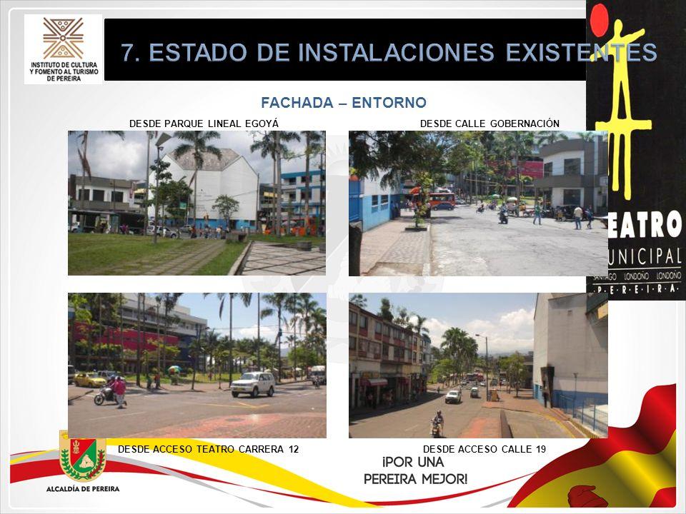 7. ESTADO DE INSTALACIONES EXISTENTES