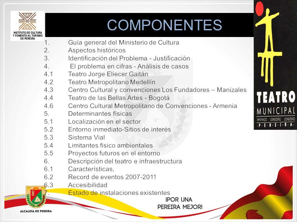 COMPONENTES Guía general del Ministerio de Cultura Aspectos históricos