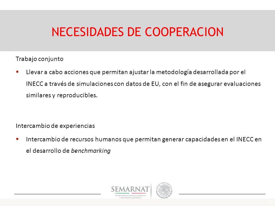 NECESIDADES DE COOPERACION