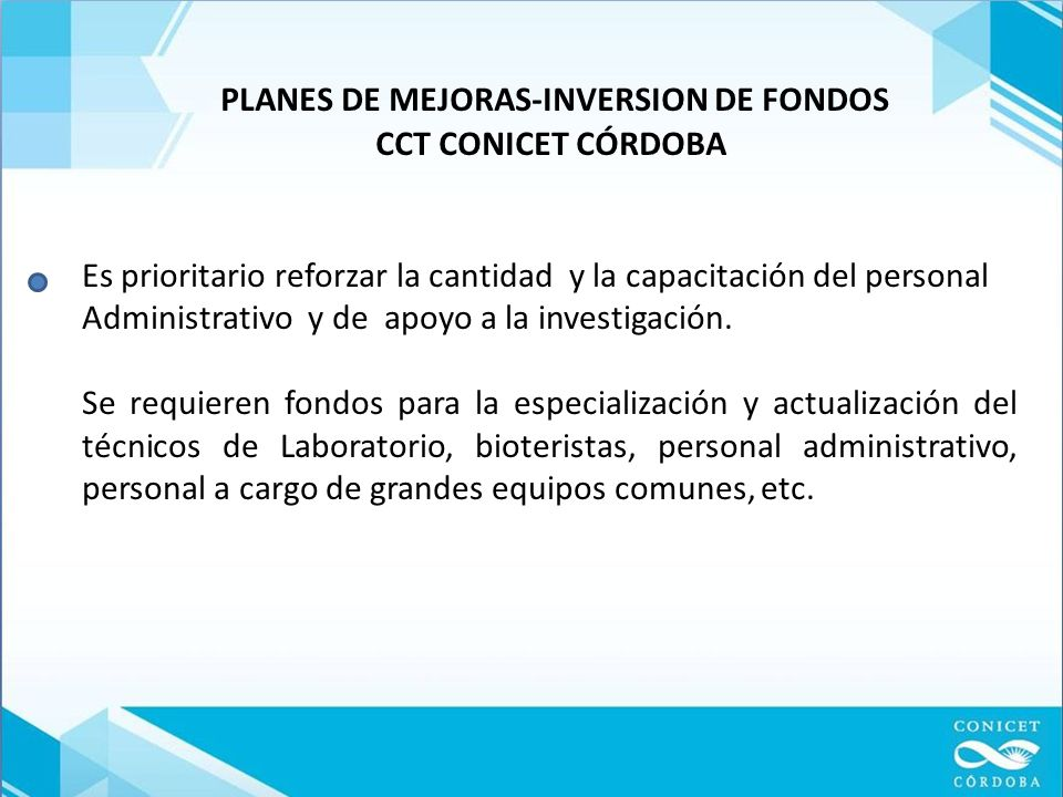 PLANES DE MEJORAS-INVERSION DE FONDOS