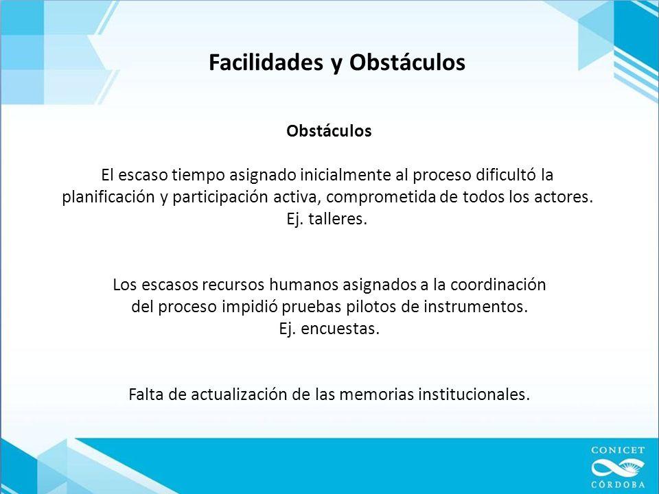 Facilidades y Obstáculos