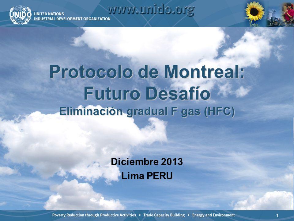 Protocolo de Montreal: Futuro Desafío Eliminación gradual F gas (HFC)