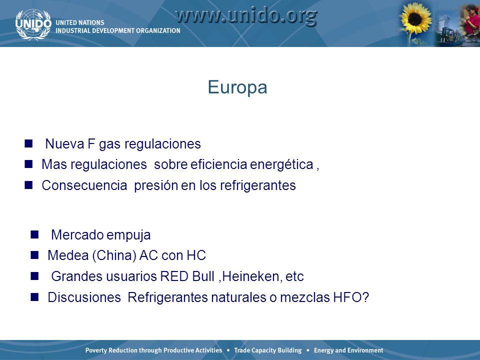 Europa Nueva F gas regulaciones