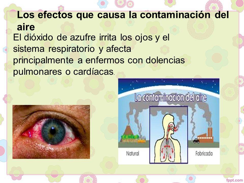 Los efectos que causa la contaminación del aire