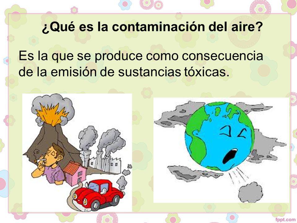 ¿Qué es la contaminación del aire