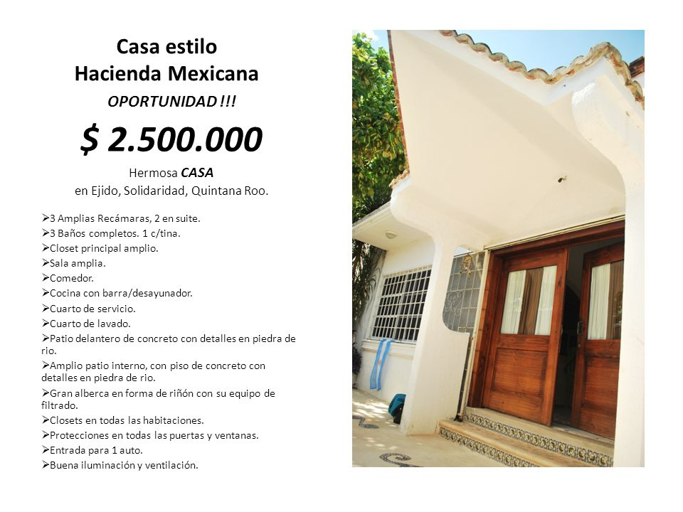 Casa estilo Hacienda Mexicana