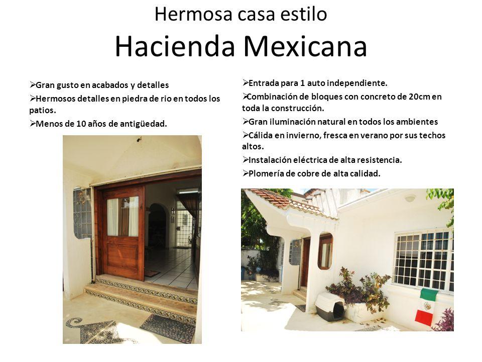 Hermosa casa estilo Hacienda Mexicana