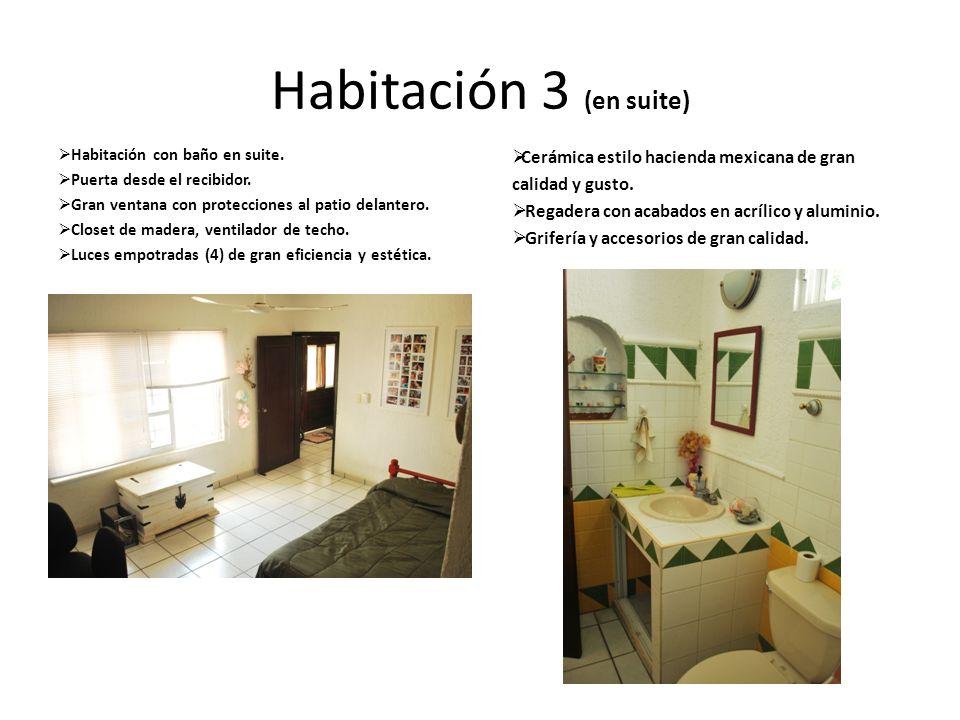 Habitación 3 (en suite) Cerámica estilo hacienda mexicana de gran