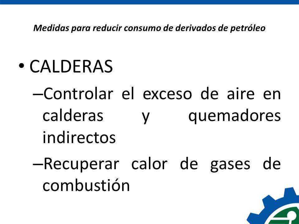 Medidas para reducir consumo de derivados de petróleo