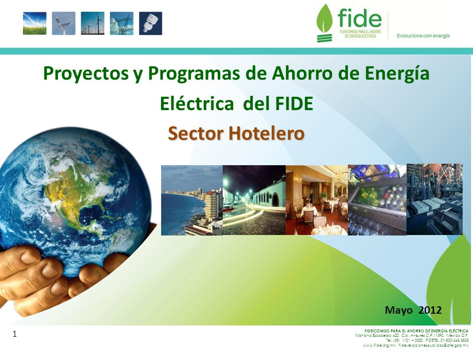 Proyectos y Programas de Ahorro de Energía Eléctrica del FIDE