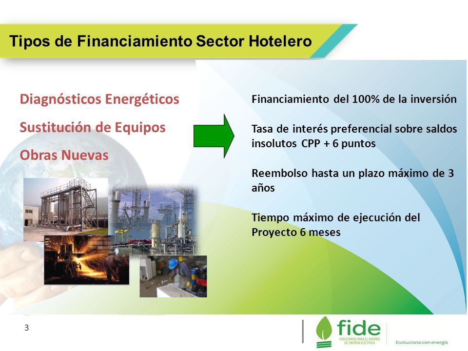 Tipos de Financiamiento Sector Hotelero