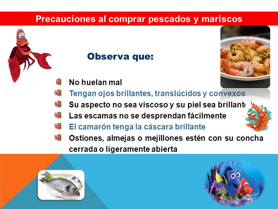 Precauciones al comprar pescados y mariscos