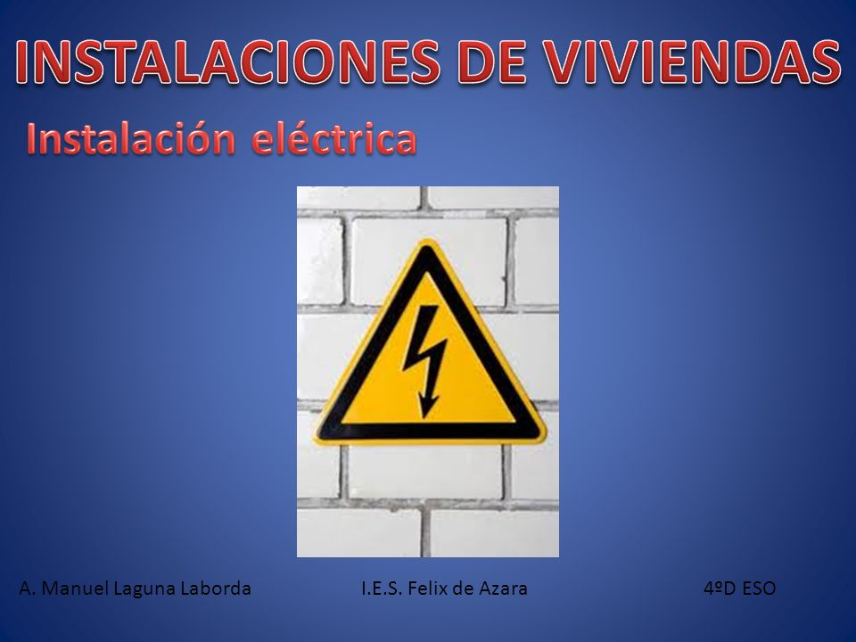 INSTALACIONES DE VIVIENDAS Instalación eléctrica