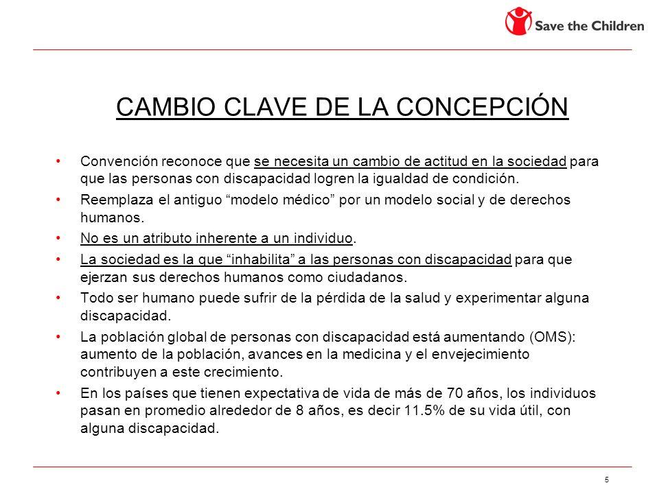 CAMBIO CLAVE DE LA CONCEPCIÓN