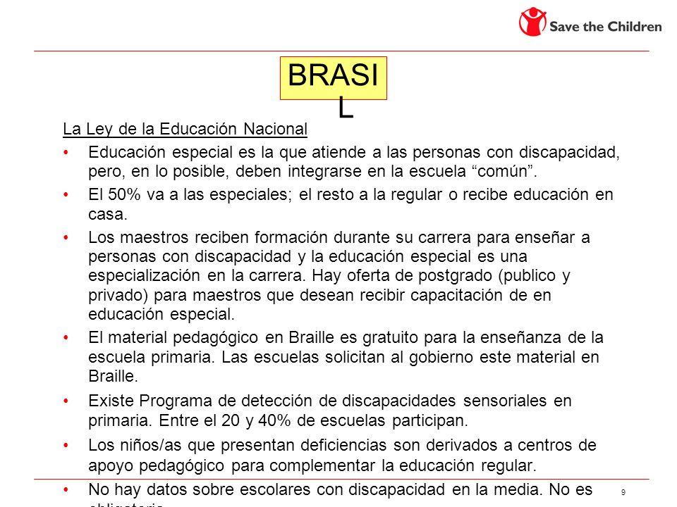 BRASIL La Ley de la Educación Nacional
