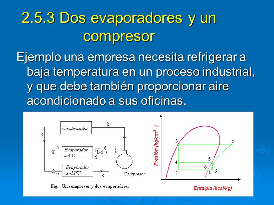 2.5.3 Dos evaporadores y un compresor