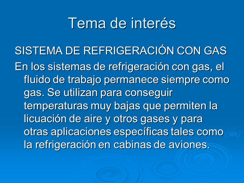 Tema de interés SISTEMA DE REFRIGERACIÓN CON GAS