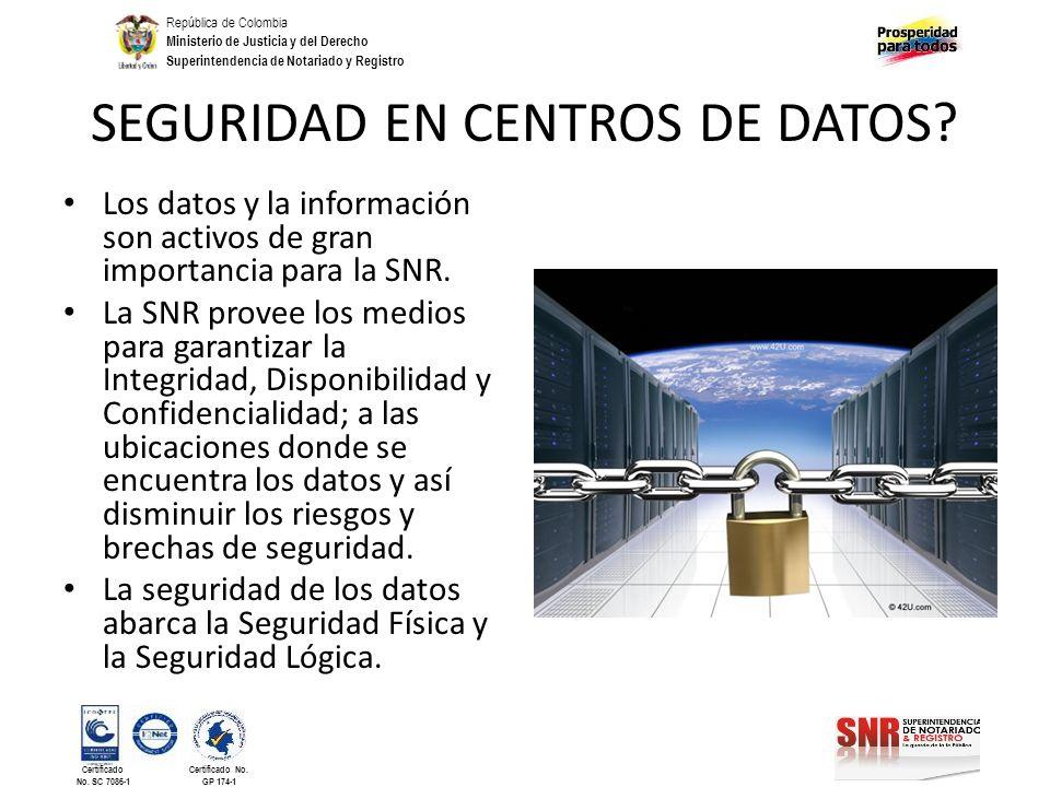 SEGURIDAD EN CENTROS DE DATOS