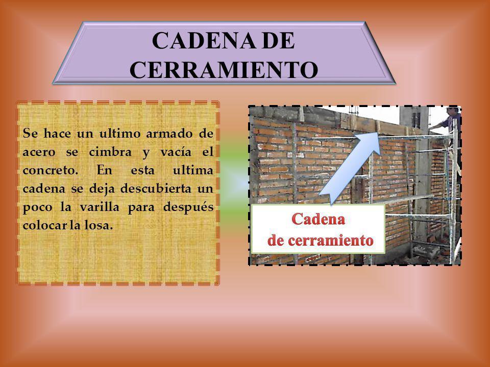 CADENA DE CERRAMIENTO Cadena de cerramiento