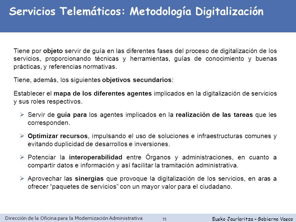 Servicios Telemáticos: Metodología Digitalización