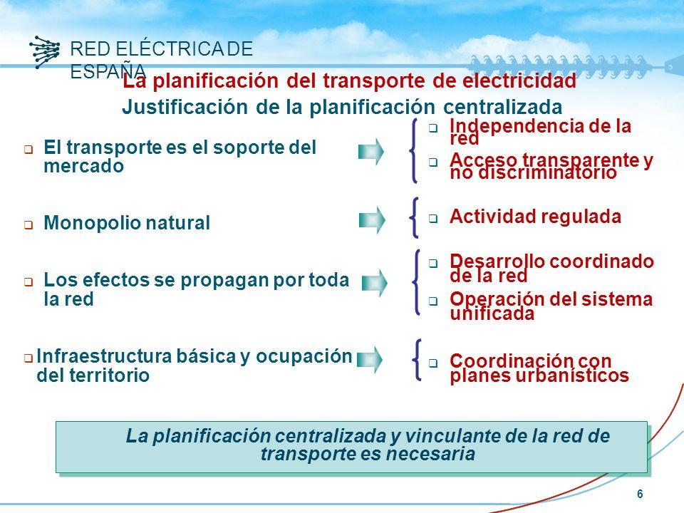 La planificación del transporte de electricidad