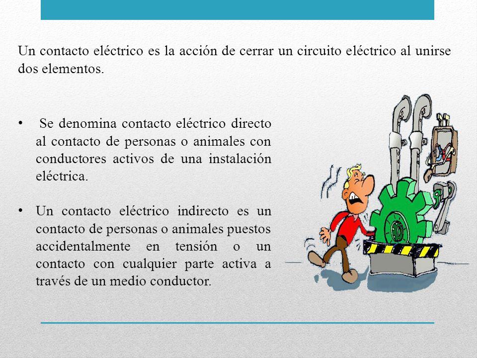 Un contacto eléctrico es la acción de cerrar un circuito eléctrico al unirse dos elementos.