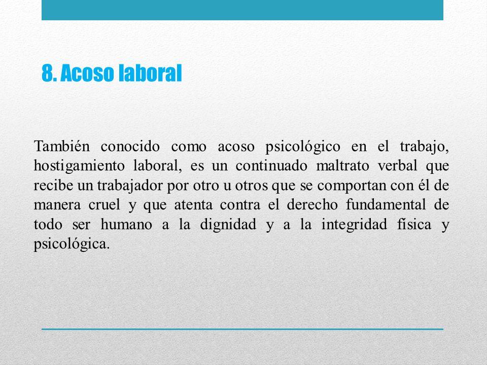 8. Acoso laboral