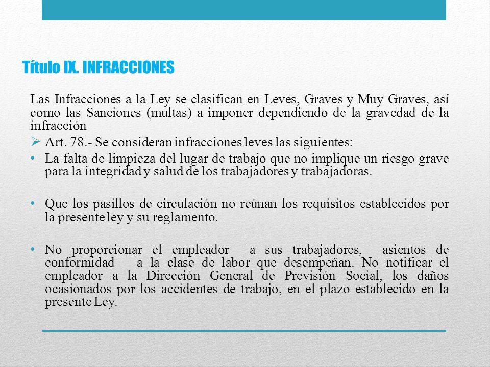 Título IX. INFRACCIONES