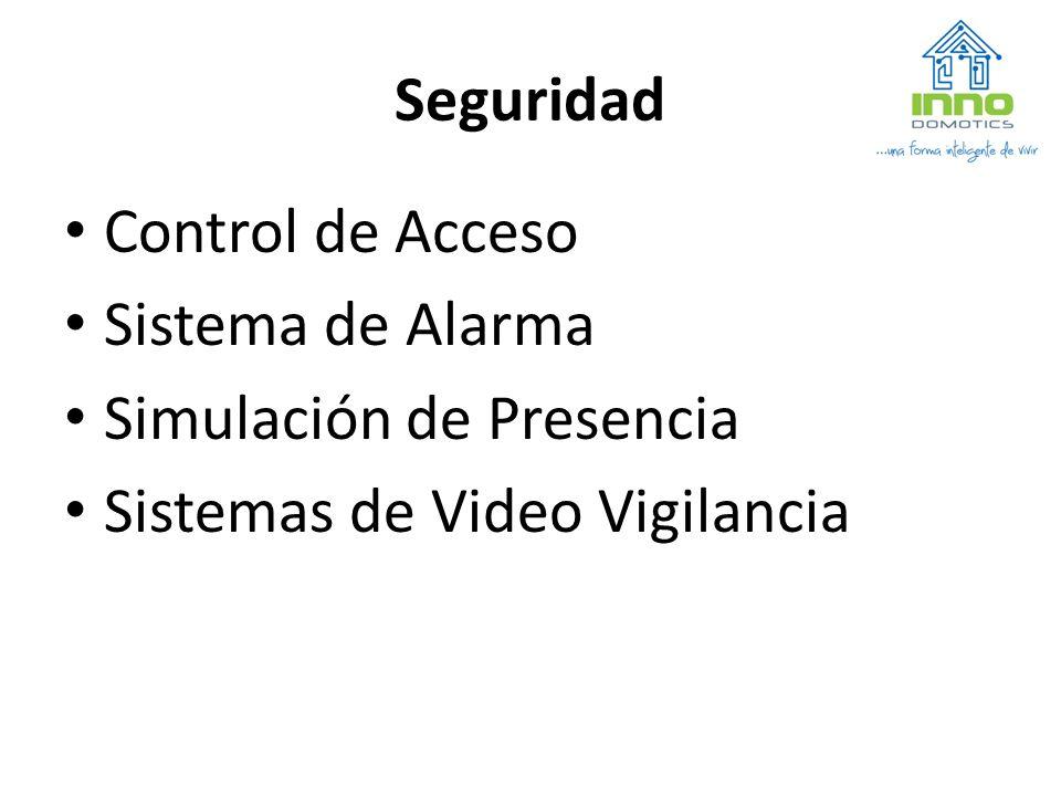 Seguridad Control de Acceso Sistema de Alarma Simulación de Presencia Sistemas de Video Vigilancia