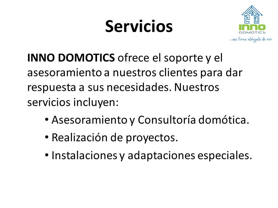 Servicios INNO DOMOTICS ofrece el soporte y el asesoramiento a nuestros clientes para dar respuesta a sus necesidades. Nuestros servicios incluyen: