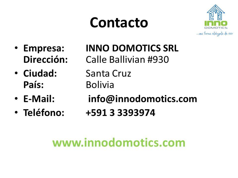Contacto www.innodomotics.com