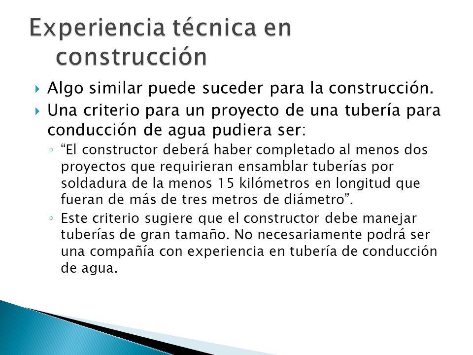 Experiencia técnica en construcción