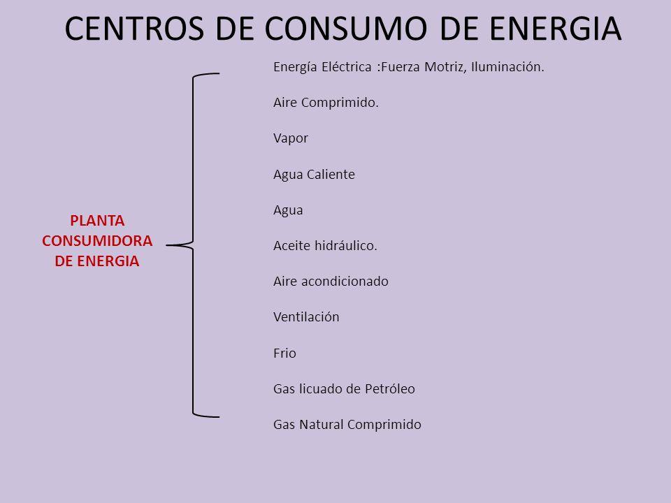 CENTROS DE CONSUMO DE ENERGIA