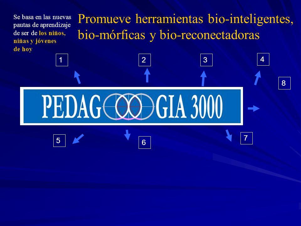 Promueve herramientas bio-inteligentes, bio-mórficas y bio-reconectadoras
