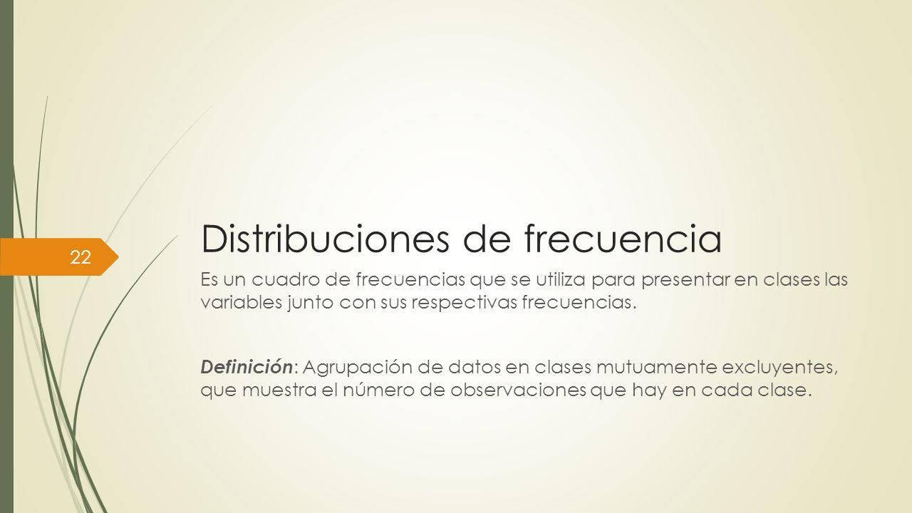 Distribuciones de frecuencia