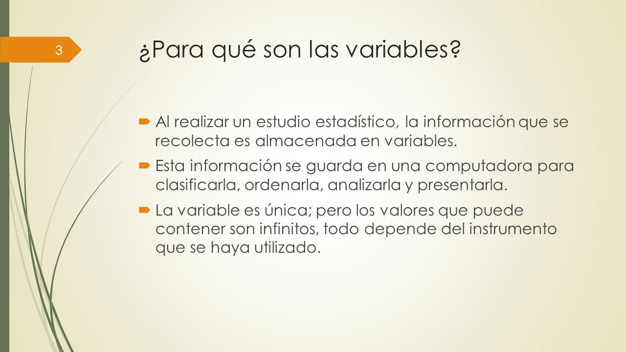 ¿Para qué son las variables