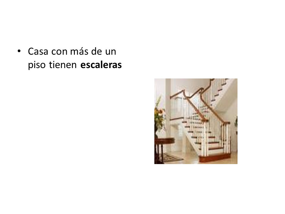 Casa con más de un piso tienen escaleras