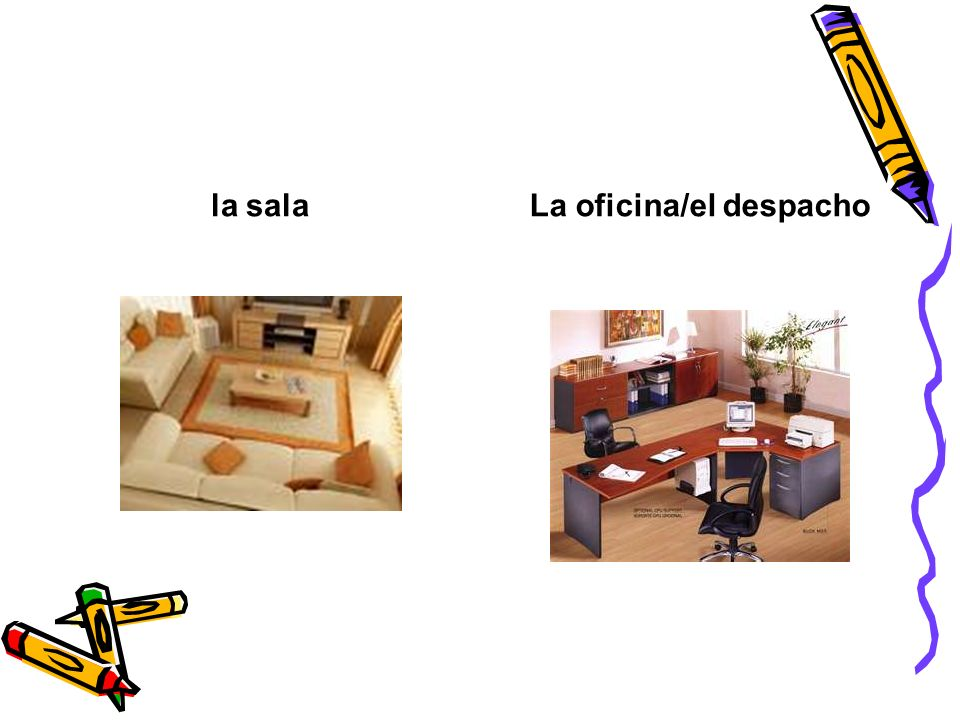 La oficina/el despacho