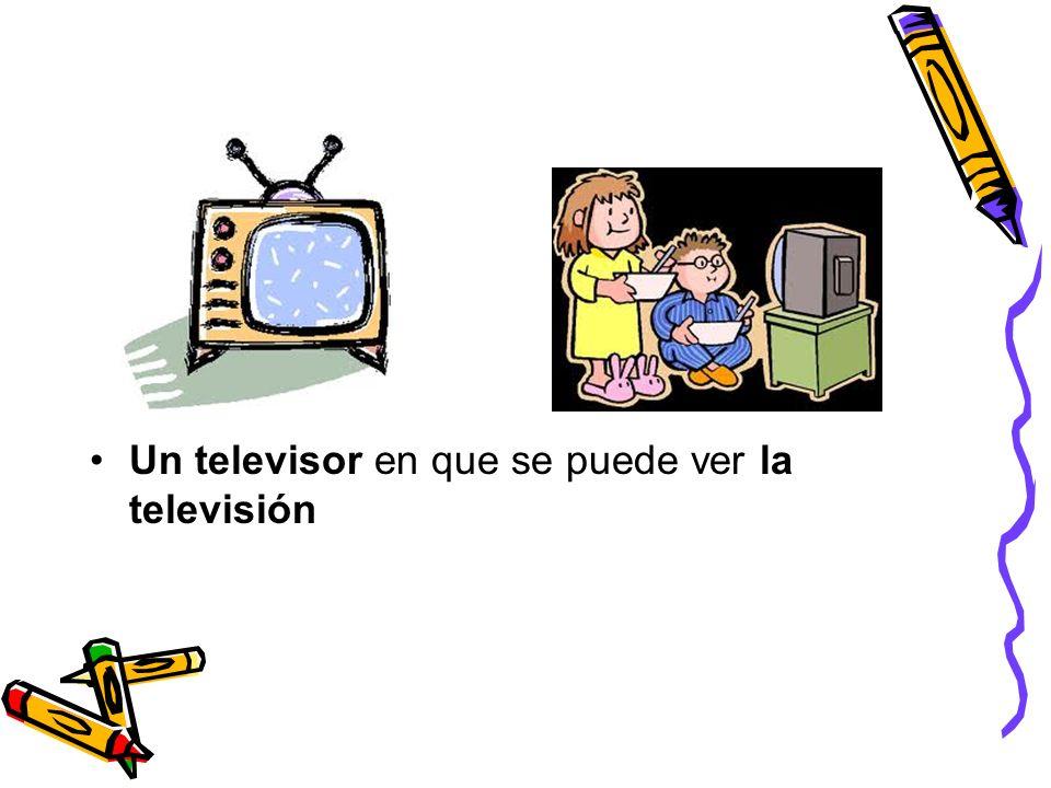Un televisor en que se puede ver la televisión