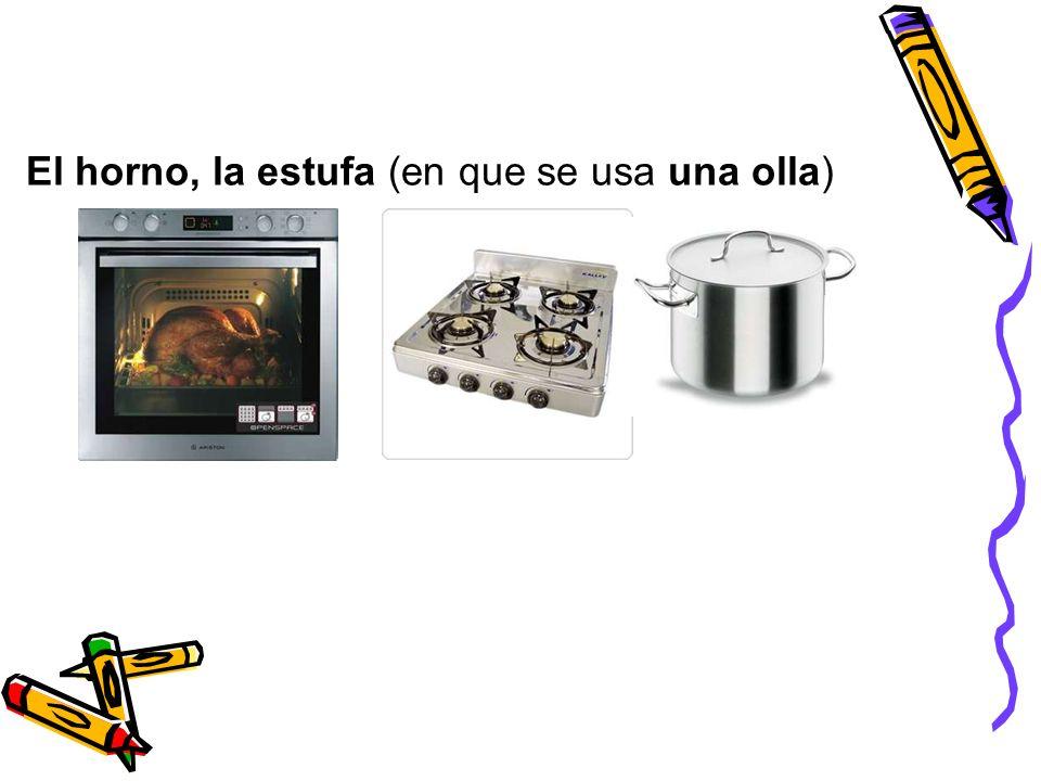 El horno, la estufa (en que se usa una olla)