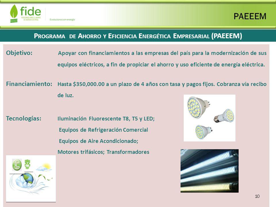 Programa de Ahorro y Eficiencia Energética Empresarial (PAEEEM)