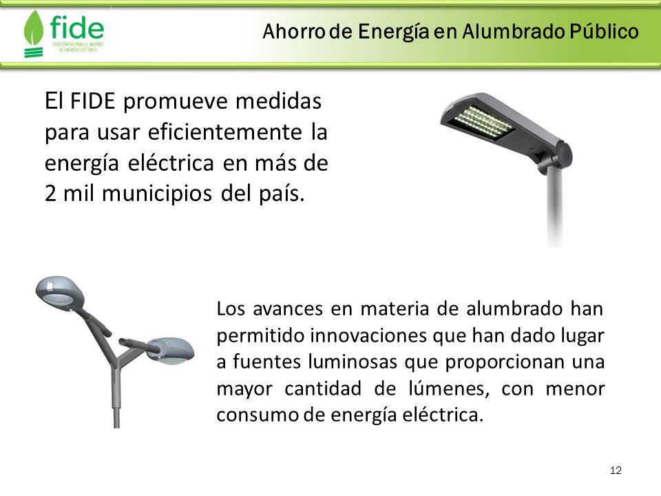 Ahorro de Energía en Alumbrado Público