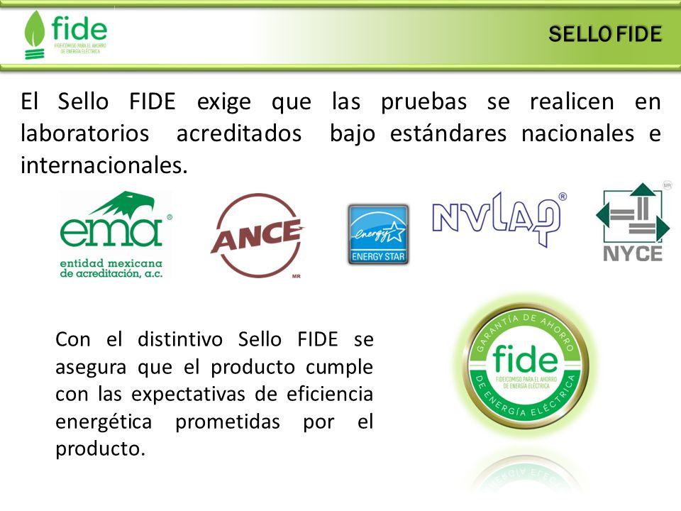 SELLO FIDE El Sello FIDE exige que las pruebas se realicen en laboratorios acreditados bajo estándares nacionales e internacionales.