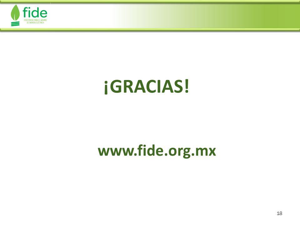 ¡GRACIAS! www.fide.org.mx